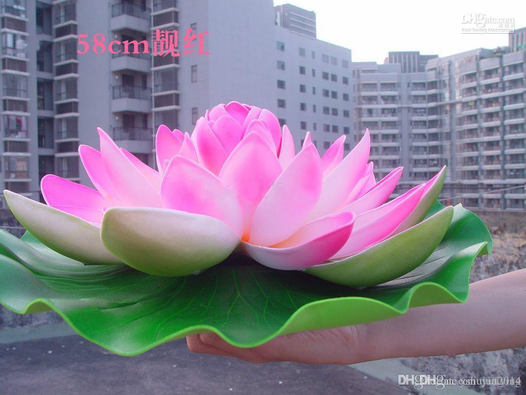 Online Cheap 40 Cm Diameter Beautiful Artificial Lotus Flower