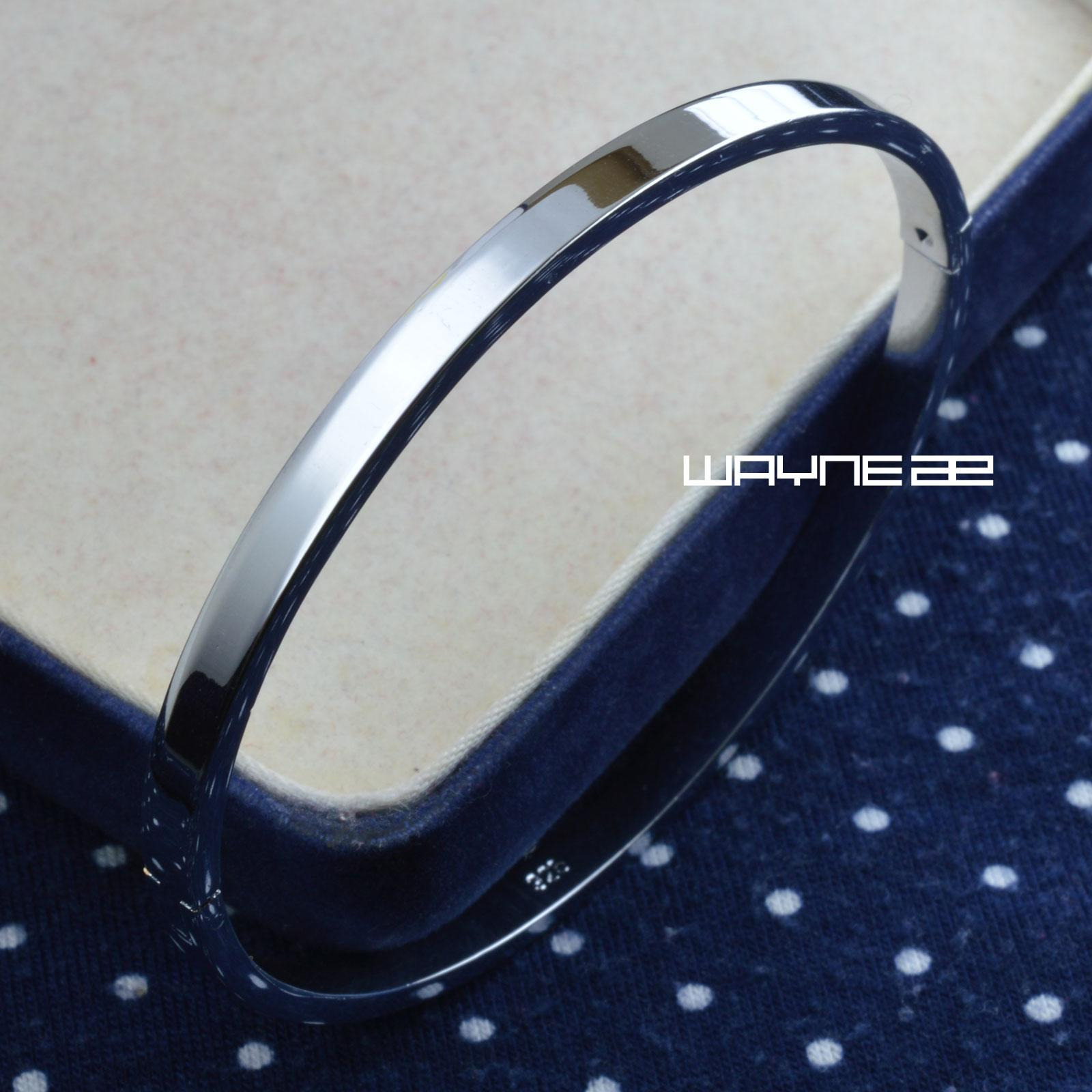 Hallmark Silver Tone 60x 50mm Elegant Party Solid bangel bracelet G133