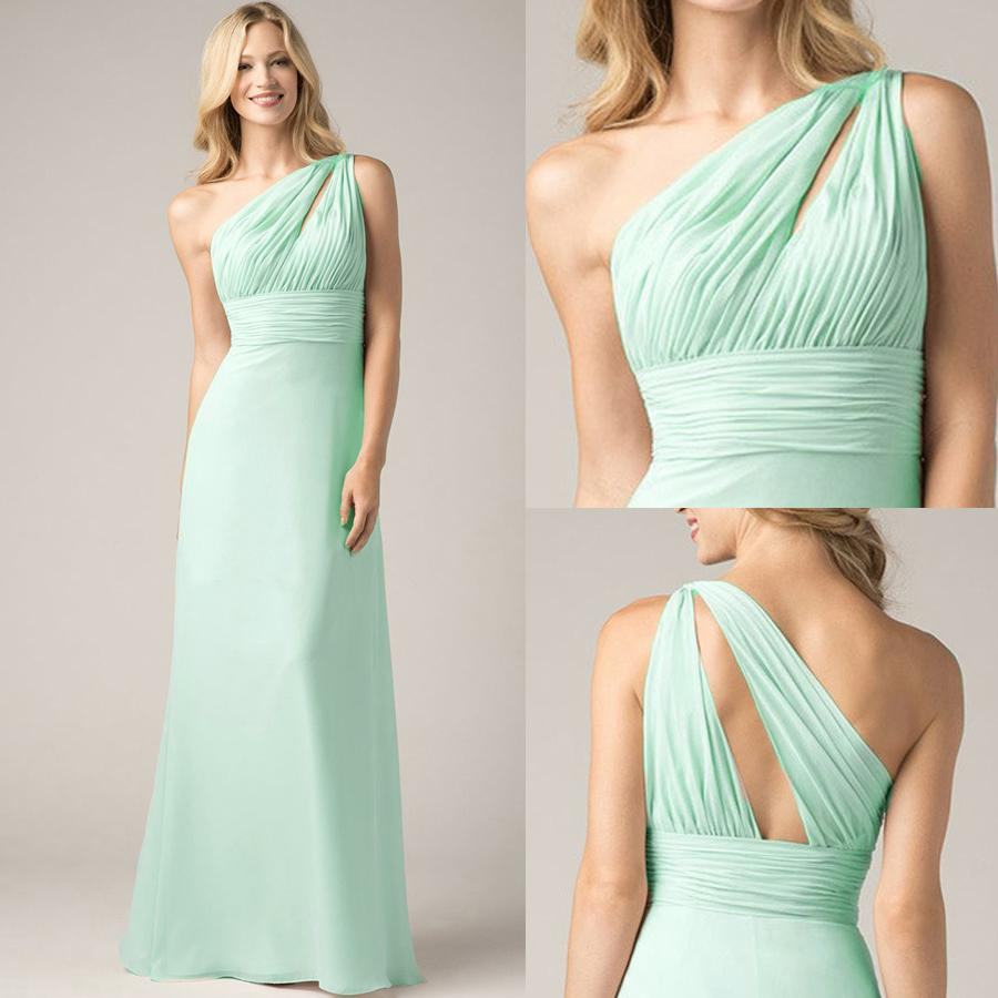 Unique one shoulder mint green bridesmaid dresses for cheap unique one shoulder mint green bridesmaid dresses for cheap keyhole asymmetrical bodice a line plus size silver bridesmaids dresses lavender vintage ombrellifo Image collections