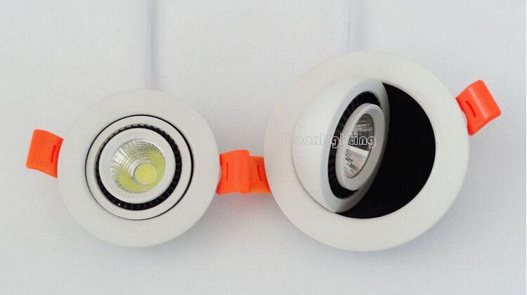 5W 7W Вращающийся на 360 градусов COB светодиодный светильник AC110-240V Светодиодные встраиваемые встраиваемые потолочные светильники Теплый / Natrual / холодный белый светодиодный потолочный светильник Downlight