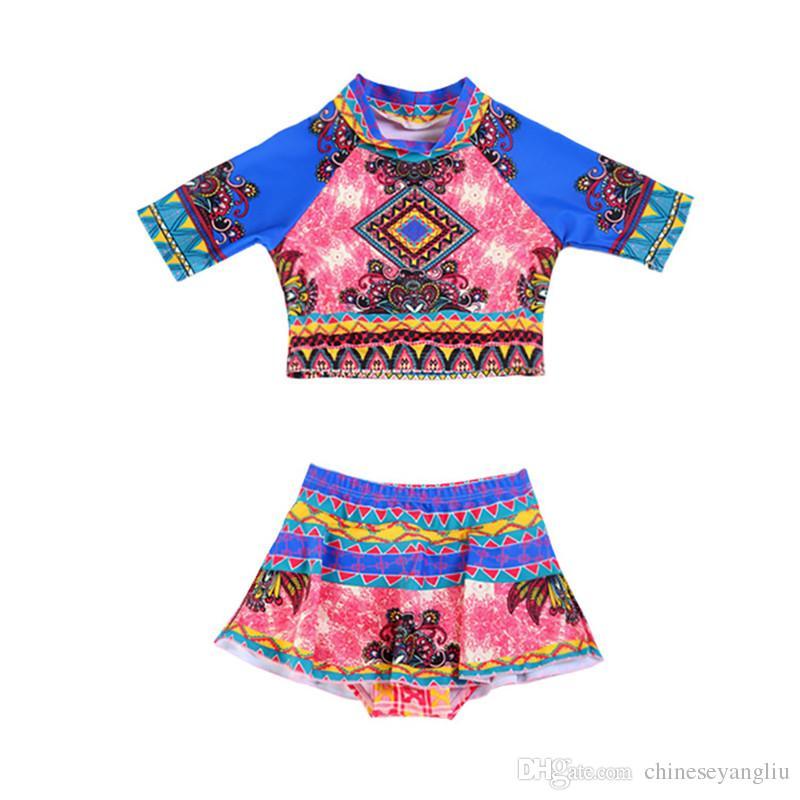 4a0eb0f17a ful Printed Girls Swimwear Lovely Girl Swimming Suits Baby Bikini Set Kids  Swimwear Children Bathing Suit From Chineseyangliu, $16.09 | DHgate.Com