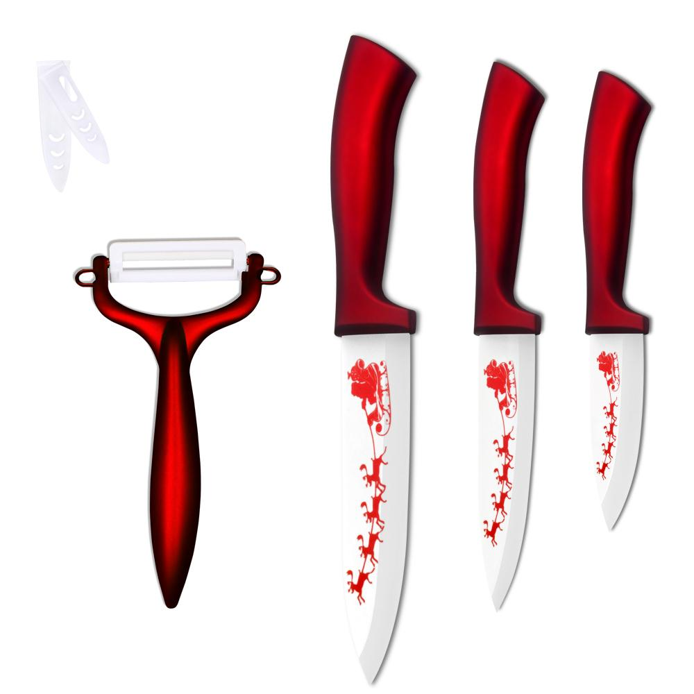 Xyj 3, 4, 5 Inch Ceramic Knife Set Christmas Decorations For Home ...