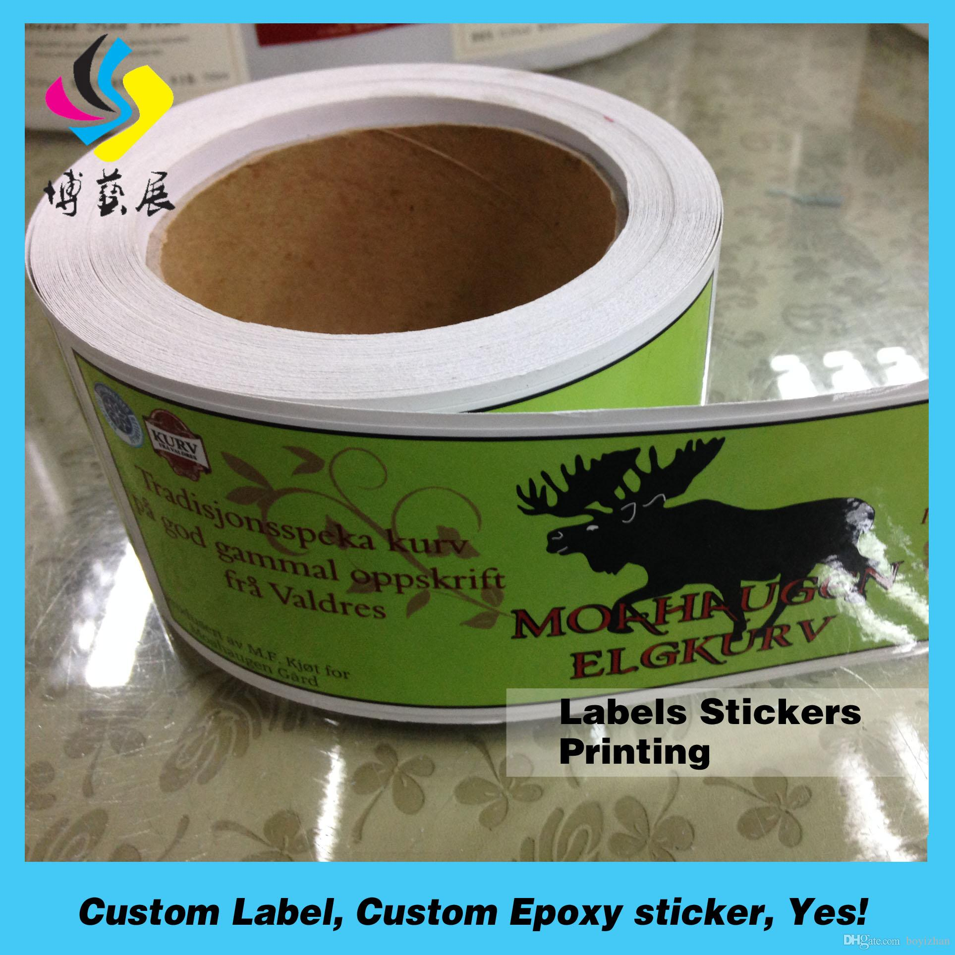 Custom Printing Eco Friendly Waterproof Meat Packing Label - Custom stickers eco friendly