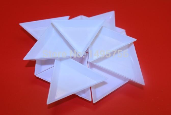 2018 Plastic Triangle Tray Diy Tool Rhinestone Imitation Diamond BoxSmall Receive Plate From Xinmili 488