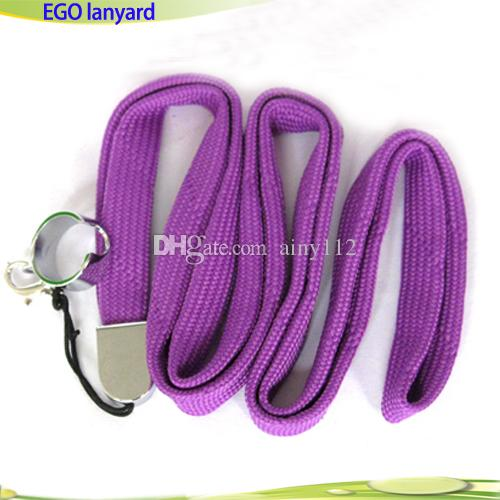 Lanyard ego Ring Necklace String Neck Chain Sling w Clip Ring Lanyards for Ego Series ego-t ego-c ego-w Battery Mods E Cigarettes Mix colors