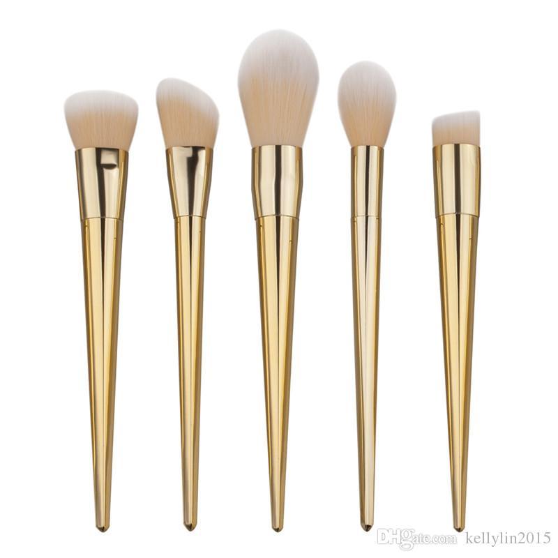 Makeup Brushes Sets Beauty Full Set Nylon Foundation Eyeshadow Powder Lip Brush Silver Rose Gold Cosmetic Make up Brushes Kit Tools