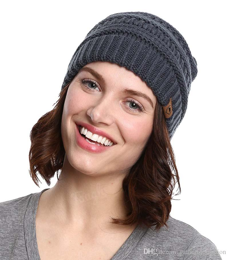 50ac740e0a6 New Winter Slouchy Beanie Hat Unisex Soft Warm Oversized Chunky Cable Knit  Thick Cap Women Men Beanie Hat Beanie Hats For Women Beanies For Women From  ...