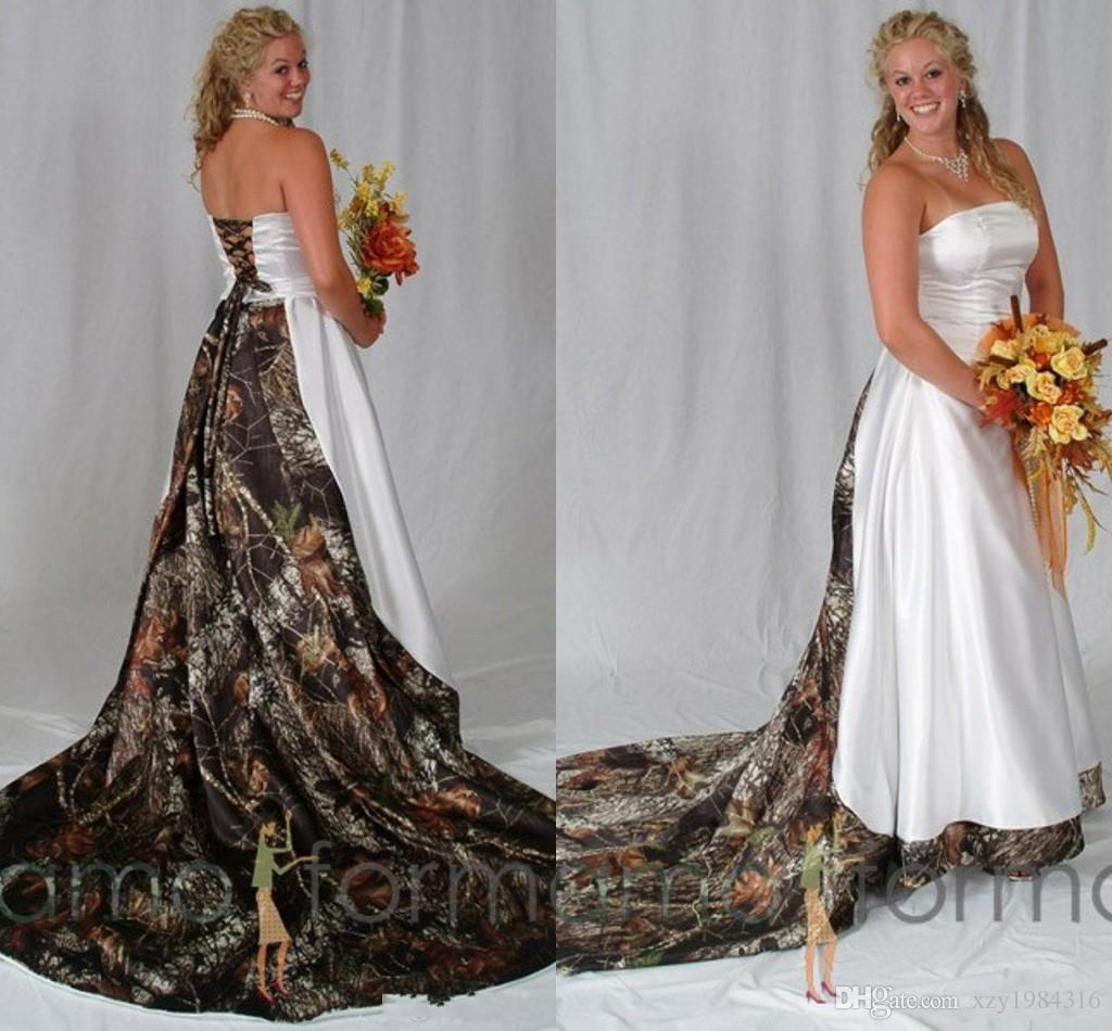Camo Wedding Dresses with Lace