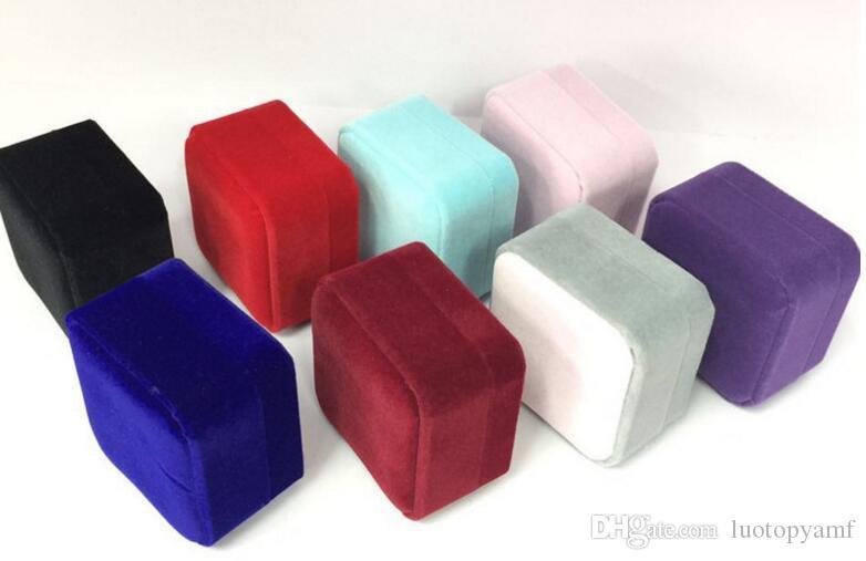 Samt Schmuckschatullen für Halskette Mode Delicate Beflockung Faltbare Schmuck Box Fällen Valentinstag Geschenk