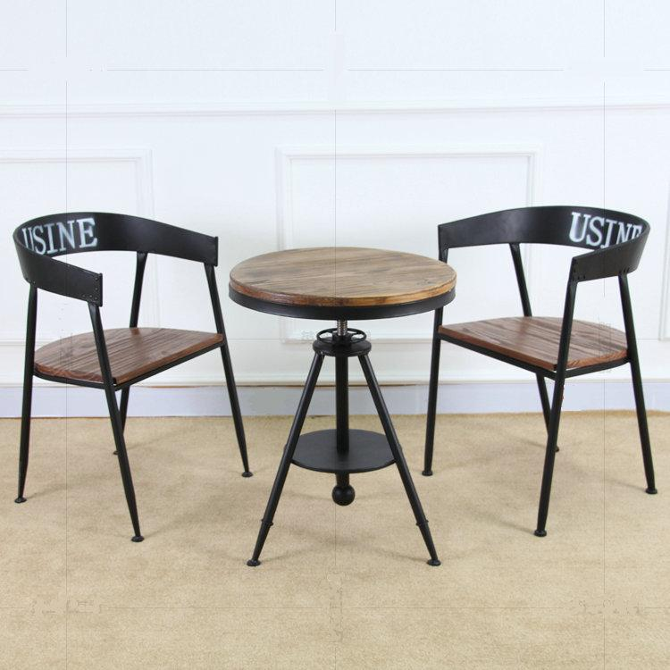 Vintage Casual Coffee Tables: Bao Creative Hair Retro Wood Coffee Table Tea Table Iron