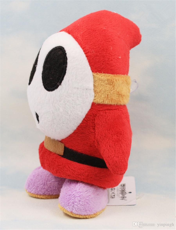 """17CM /6.7"""" Super Mario Bros Strewberry Super Mario Shy Guy Stuffed Plush Doll Toys Animal Plush Toys"""