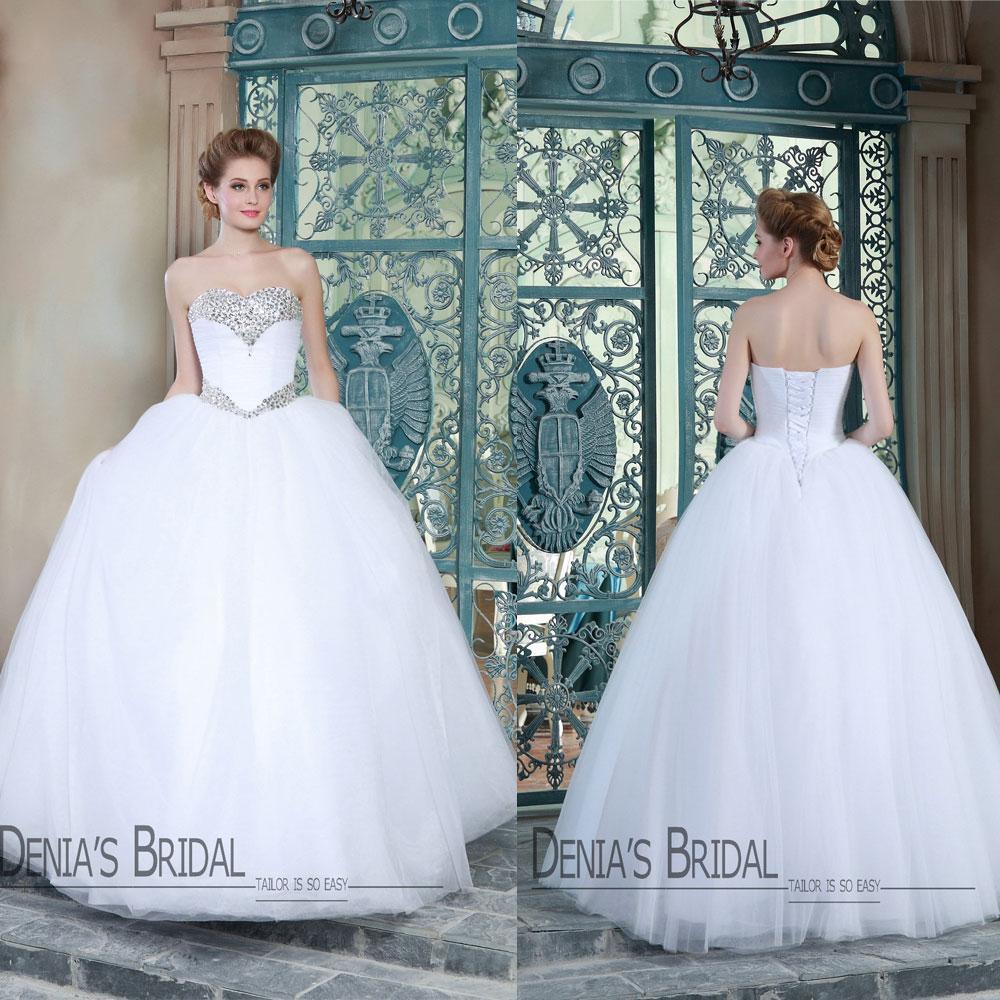 2015 nuptiale décolleté sweetheart cristal perlée sans manches de dentelle robe robes de mariée de haut jusqu'à modèle modèle robes de mariée