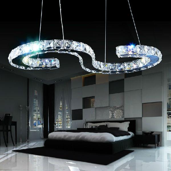 Modern Copper Ring Led Pendant Lighting 10758 Shipping: New Design S Type LED Modern Crystal Chandelier Lighting