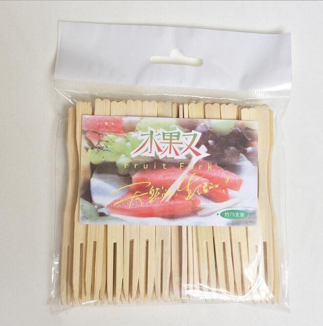 Forchetta di frutta naturale pura due stoviglie portatili del dente di lusso Forcella speciale di frutta di legno boutique di lusso trasporto libero HK33