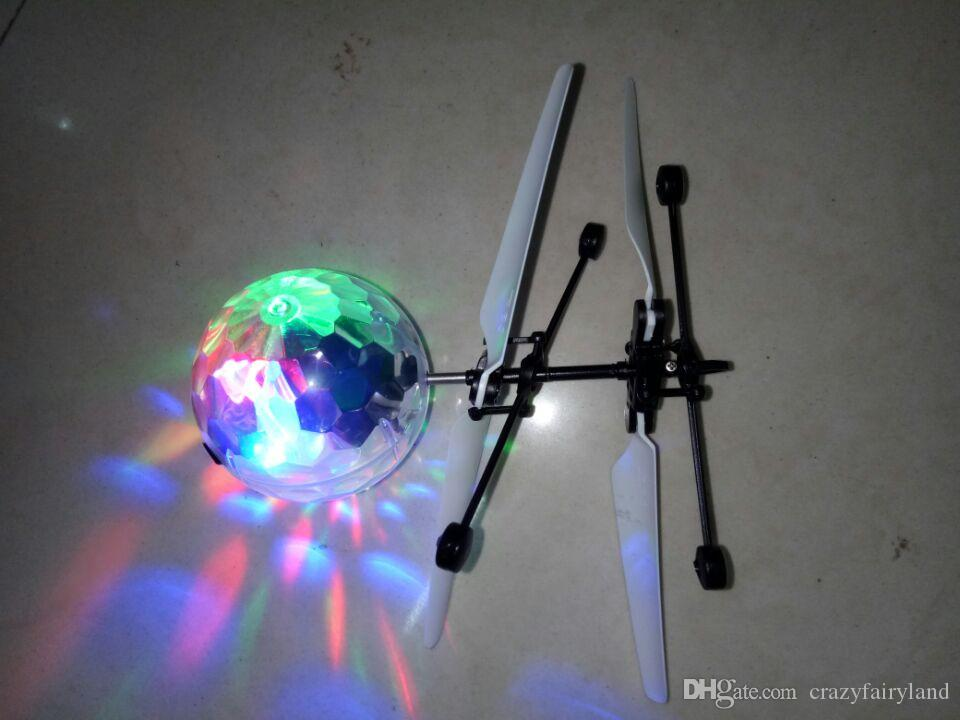 Aircraft Helicopter Toy Kids Christmas Gifts Flying Ball Light Up Led Flashing Electric Toy Induction Toys For Children