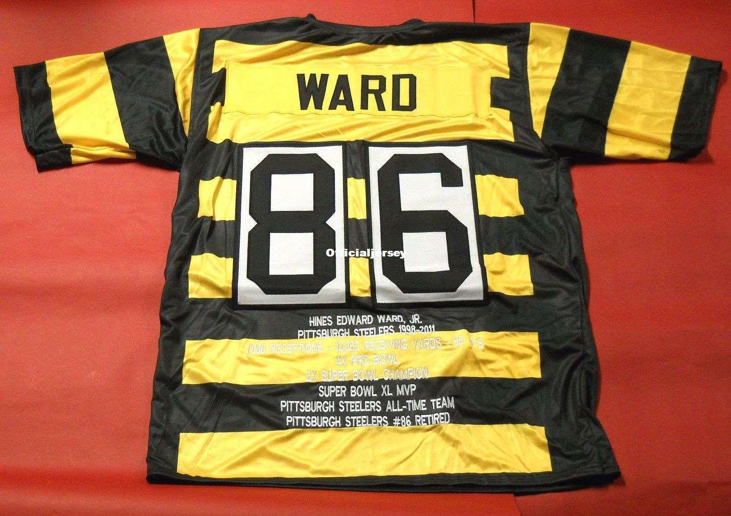 9249c58bb Cheap Retro  86 HINES WARD CUSTOM STAT MITCHELL   NESS Jersey Mens ...