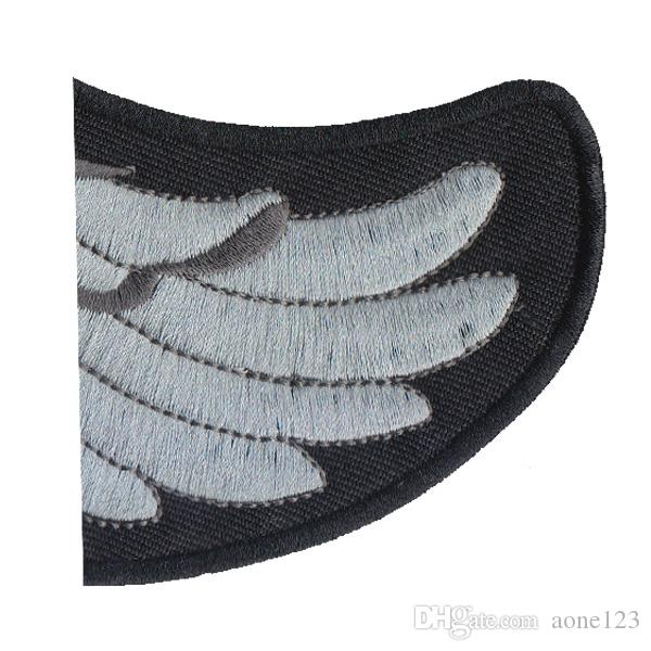 23.5cm High Biker Iron On Patch Eagle Motorcycle Embroidered Patches Badge Appliques Back Patch For Jacket
