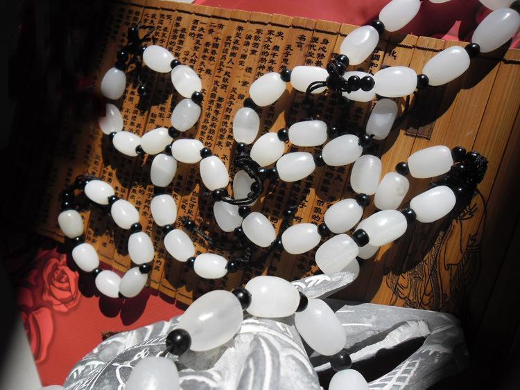 أفغانستان الطبيعية اليشم الأبيض سلسال سلسلة بالجملة صنع في الصين