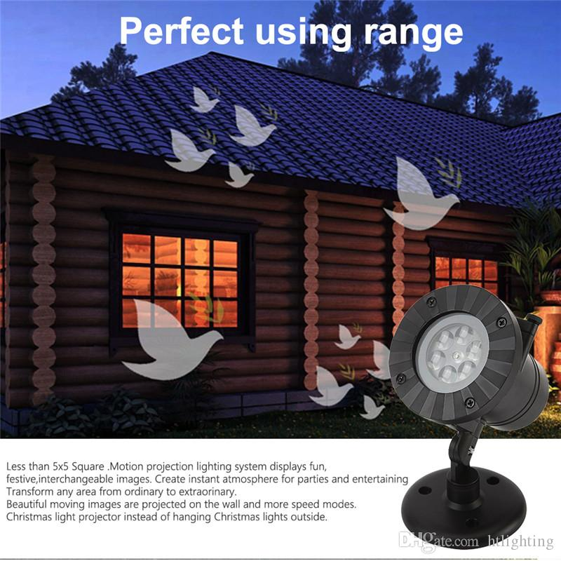 Holiday Party Decor Waterproof Outdoor LED Stage Lights 12 Types Christmas Snowflake Projector lamp Home Garden Lawn Star Lights