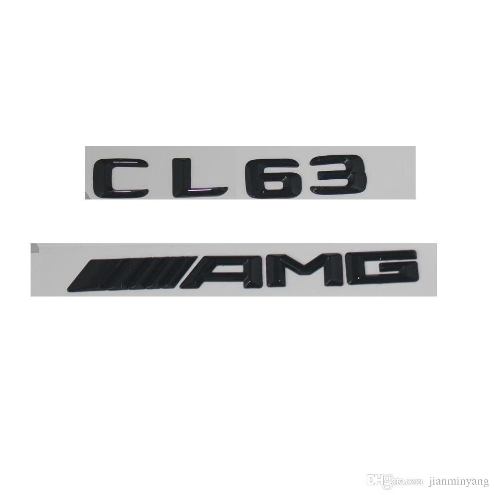 Schwarz Nummer Briefe Kofferraum Emblem Aufkleber For Mercedes Benz Cl63 Amg