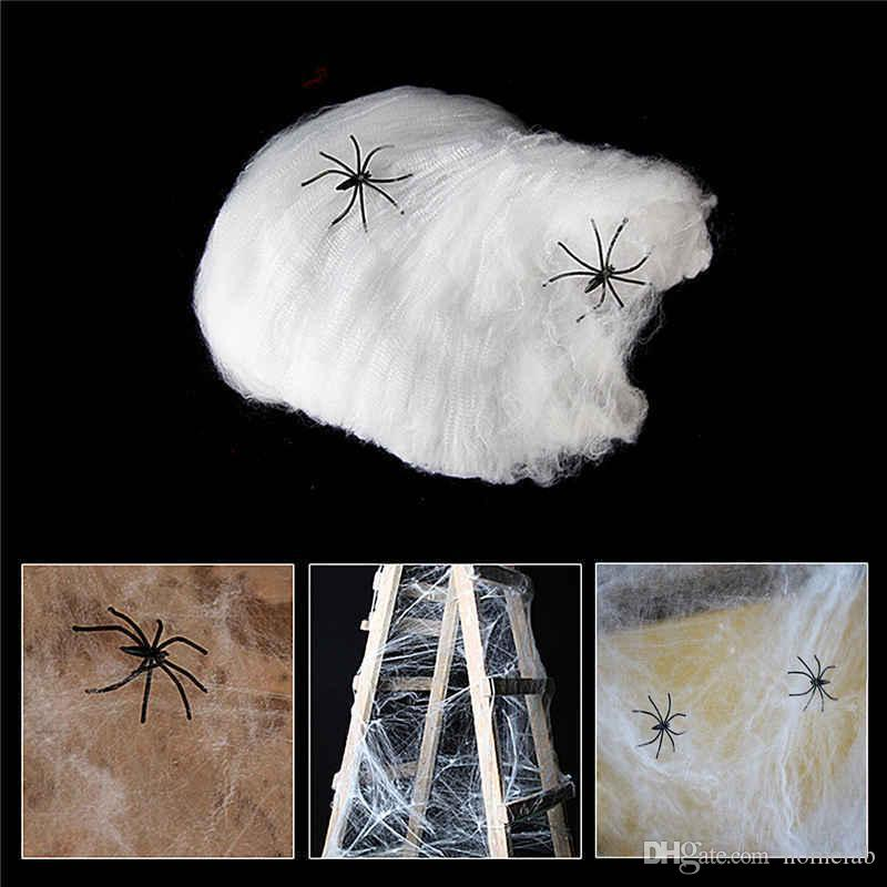 best spider web halloween decorations event wedding party favors supplies haunted house prop decoration a large with 2 spiders prom decorations under 121