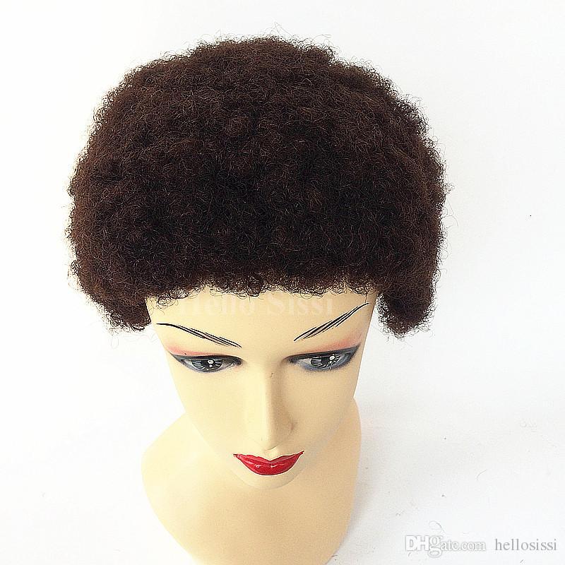 Serré Afro Kinky Curly Celebrity court bob coupe des perruques avec bébé cheveux sans colle vierge brésilienne courte pleine dentelle perruques de cheveux humains