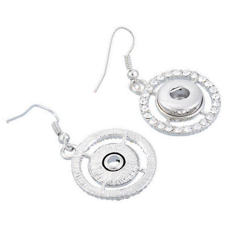 hoop g white gold ct diamond earrings pin round back h snap
