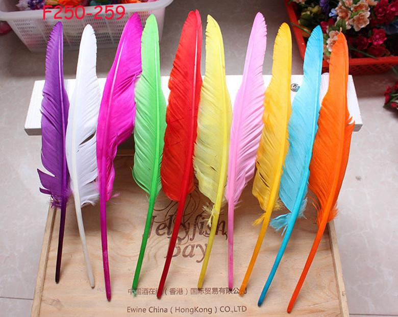 12-14inch 30-35cm royal blue purple orange lime green ot PINK White dark brown black yellow red Turkey wing feather