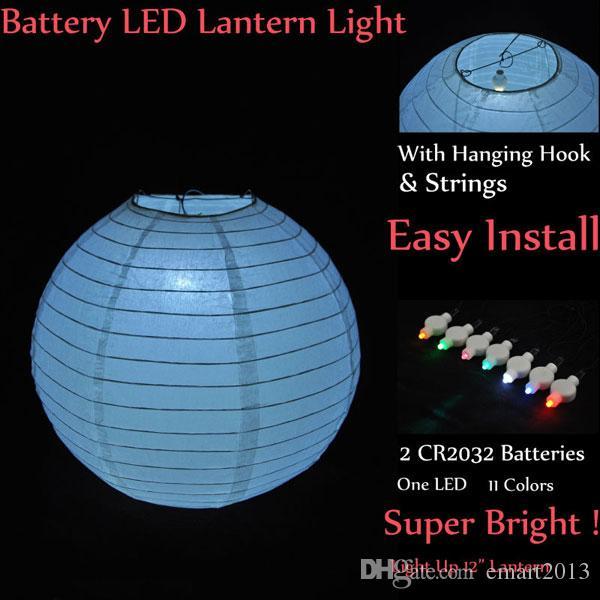 Envío libre 50 unids / lote botón alimentado por batería Led Floralyte ideal para la decoración de la boda linterna de papel Iluminación