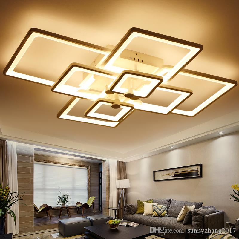 Light Filled Contemporary Living Rooms: 2019 Led Light Modern Led Ceiling Lights 110V 220V For