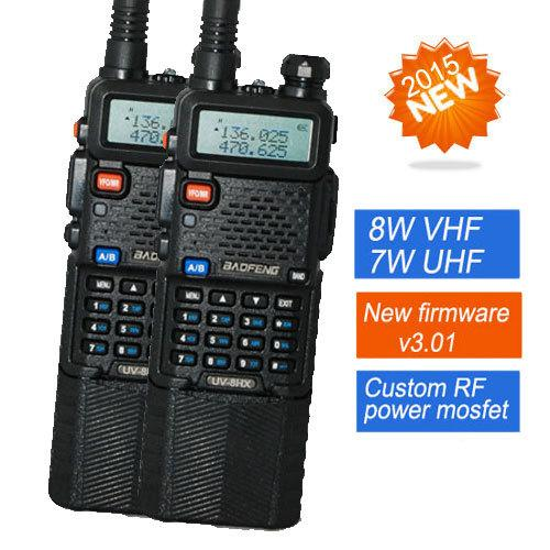 2 PCS Baofeng Walkie Talkie UV-8HX, 1w / 4W / 8w VHF / UHF Dual Band CB двухстороннее радио, брат YAESU VX-6R PUXING ПВ-2г