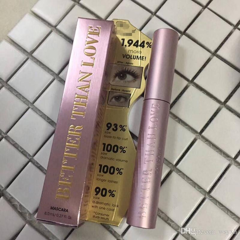 Too Hot Sale Faced BETTER THAN Love/sex MASCARA Thick Fiber Long Roll Waterproof Sweat Lasting Anti-blooming DHL