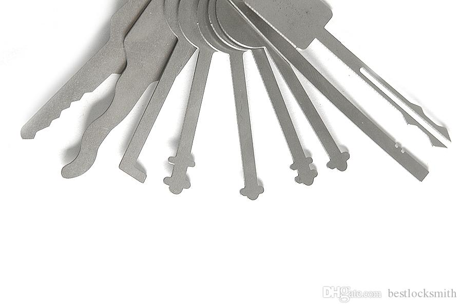 / jiggler 키 잠금 고정 도구 잠금 선택 잠금 장치를위한 더블 양면 잠금 픽업 도구
