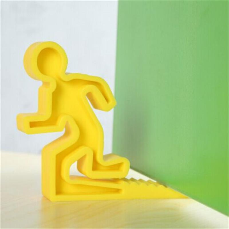 2015 Brand New Running Man Silicone Door Stop Holder Cute Rubber Exit Sign  Baby Safety Door Stopper