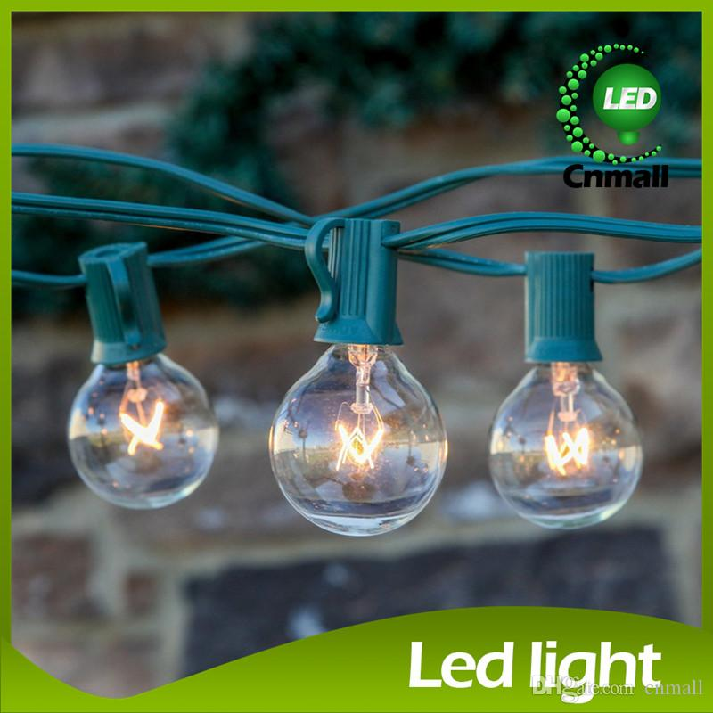 Patio Clear Globe String Lights 25 Ft Clear Globe G40 String Lights Set G40  Bulbs Included Patio Lights U0026 Patio String Light Bulbs C9 Led Christmas  Light ...