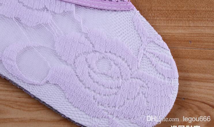 calcetines calcetines de las mujeres de verano fresco de corte bajo hembra invisible zócalo zapatillas de boca baja de verano de encaje fino calcetines tobillo sanar calcetín corto