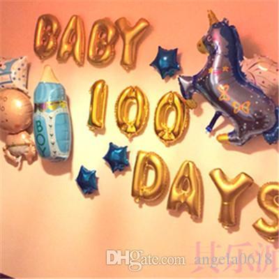 2018 Best Sale Baby 100 Days One Year Birthday Decorate Children ...