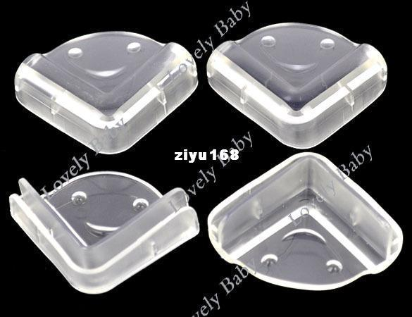80pcs Clear Baby Safety Guard Protector Cushion Table Desk Corner Protector free shipping (20set/lot
