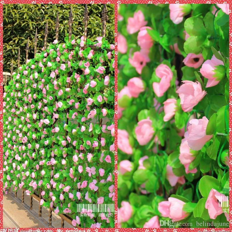 Bulk Artificial Flowers Rose Vine Wisteria Rattan For Valentines