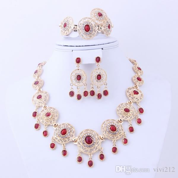 2017 Promotion Cheap Dubai African Red Black Blue Indian 18k Gold