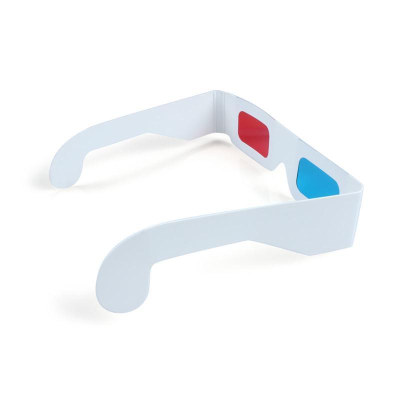 Venda quente 3D Óculos de Papel Vermelho e Ciano Branco Quadro Anaglyph Cardboard Preço Mais Barato Para Frete Grátis
