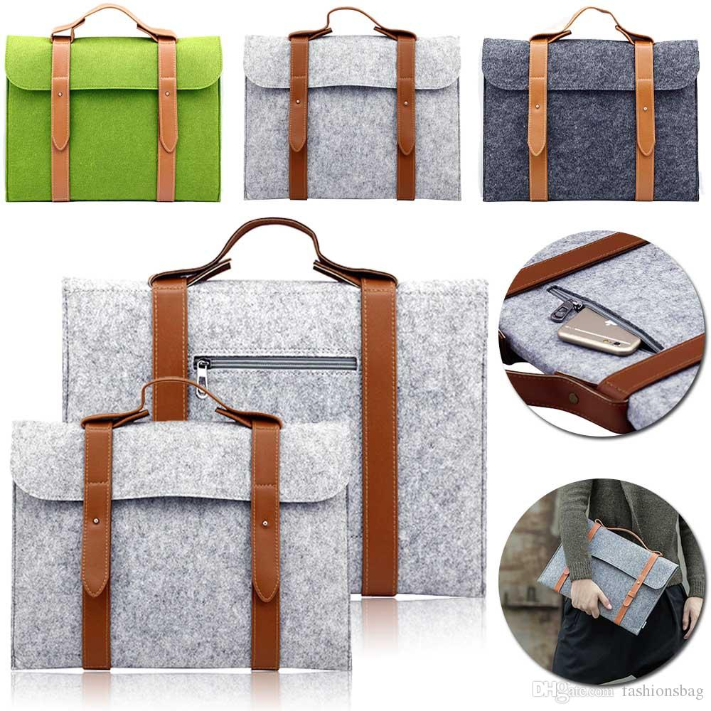df929f77a0ab Felt Bag sleeve 10 11 13 15 inch Universal Notebook tablet Computer Laptop  Sleeve Bag Case for Macbook Air Pro Retina HandBag Men Women