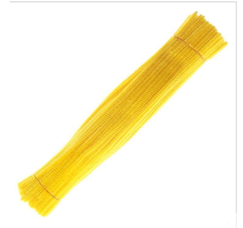 500人のユニットイエローシェニールクラフトステムの創造的な芸術Chenille Stem Pipe Cleans 12
