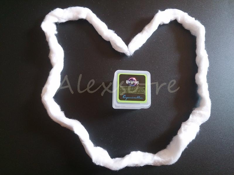 Authentique Japonais pur coton biologique mèches coton tissu japon Pour DIY RDA RBA Atomizer Vape Bobine 80 cm Longueur De Howing Box Pack DHL