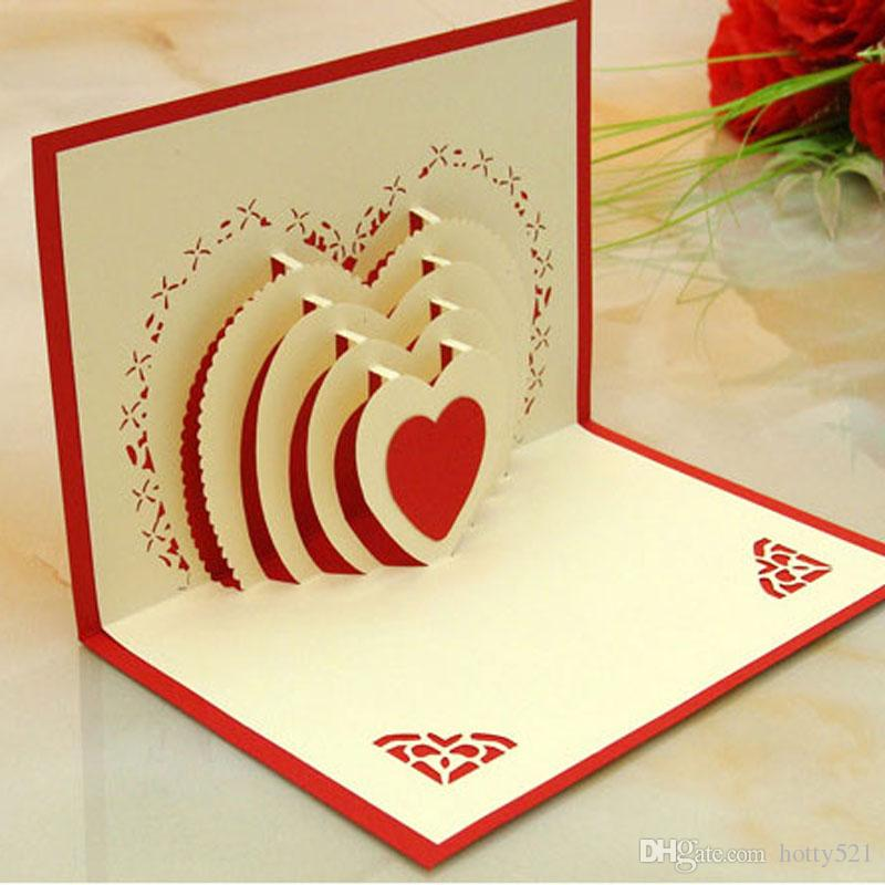 Wholesale New 3D Laser Cut Wedding Invitations Hallow Out Loving Heart Valentine'S Greeting Cards Birthday Greeting Cards Free Birthday Greeting Cards ...