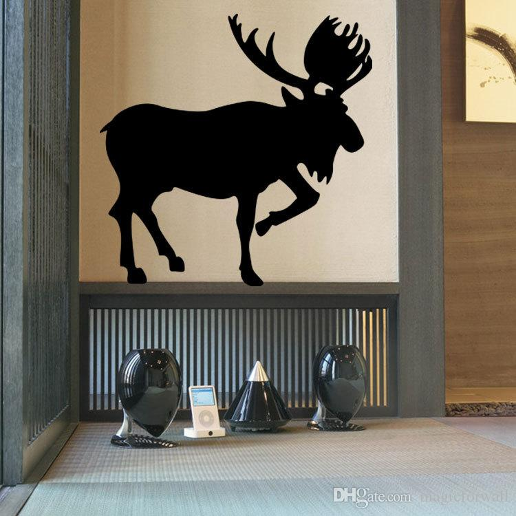 Deer Wall Art Mural Decor Poster Propitious Animal Deer Wall Decal Sticker Unique Living Room Bedroom Wall Tattoo Decoration Graphic