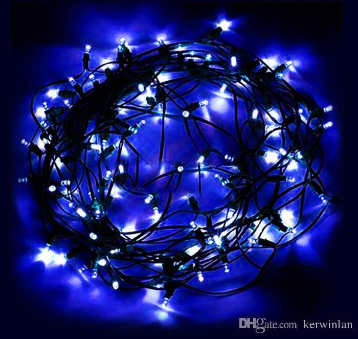100 LEDs 12M Luces solares de cadena LED Decoración multicolor Hada Luz de cadena LED para árbol de navidad Fiesta de cumpleaños Jardín al aire libre Inicio