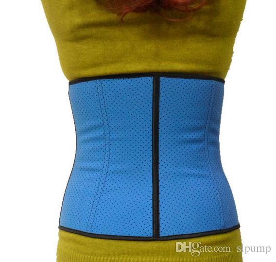 Havalandırmak Bel Eğitim Korseler Bel Eğitmen Cincher Spor Vücut Şekillendirme Kuşak Çelik Kemikli Kauçuk Underbust Shaperwear En kaliteli