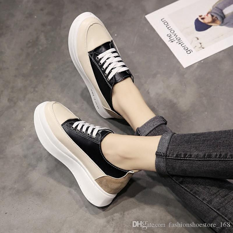 d009e68d5eb4 2018 Leather Platform Shoes Bottom Casual Women Shoes Round Toe Vintage  Oxford Shoes For Women Pumps Women Boots Summer Shoes Best Shoes From ...