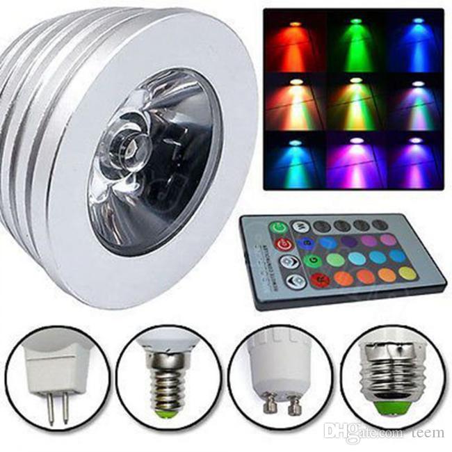 Epacet RGB 3 Вт E27 GU10 Светодиодная лампа E14 GU5.3 85-265 В MR16 12 В Светодиодные прожекторы Лампа накаливания 16 Изменение цвета + ИК-пульт дистанционного управления